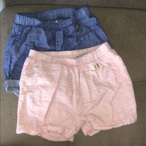 Cute blue or pink girls' shorts